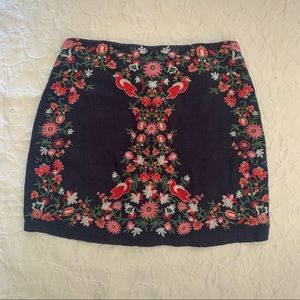 Altar'd State Embroidered Mini Skirt